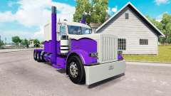 Skin Purple and White for the truck Peterbilt 38