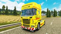 Skin DHL for Scania truck for Euro Truck Simulator 2