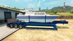 Low-frame trawl boat