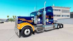 Skin Denver Broncos on the truck Kenworth W900