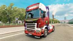 The Chile Copa 2014 skin for Scania truck for Euro Truck Simulator 2