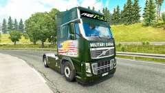 Military Cargo skin for Volvo truck for Euro Truck Simulator 2