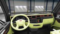 Cream interior Peterbilt 579