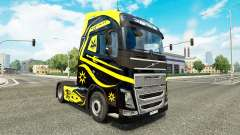 Skins Black & Yellow at Volvo trucks