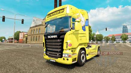 Homer Simpsons skin for Scania truck for Euro Truck Simulator 2