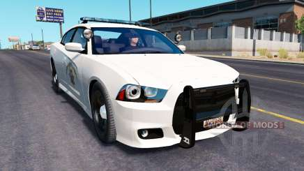 Dodge Charger Police in traffic for American Truck Simulator