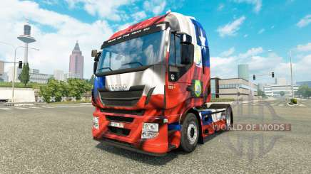 The Chile Copa 2014 skin for Iveco tractor unit for Euro Truck Simulator 2