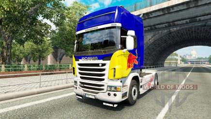 Skin Red Bull v2.0 truck Scania for Euro Truck Simulator 2