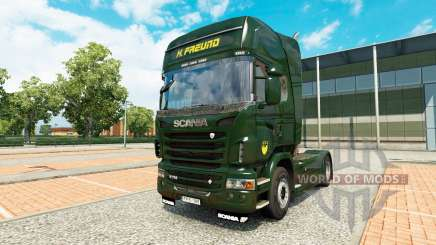 Skin H. Freund on tractor Scania for Euro Truck Simulator 2
