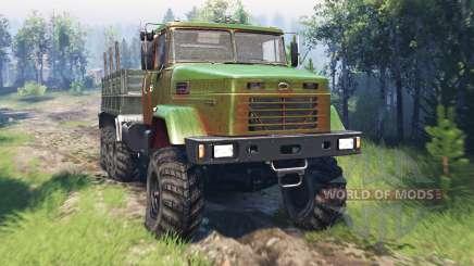 KrAZ-7140 v4.0 for Spin Tires