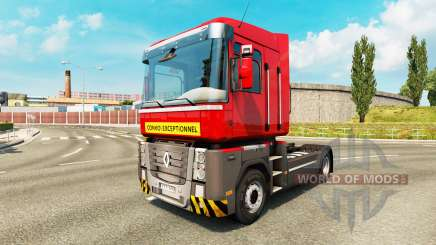Heavy transport skin for Renault truck for Euro Truck Simulator 2