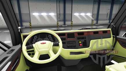 Cream interior Peterbilt 579 for American Truck Simulator