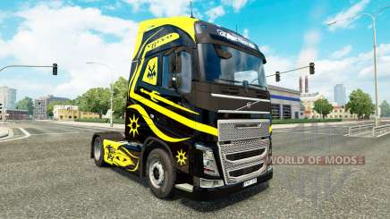 Skins Black & Yellow at Volvo trucks for Euro Truck Simulator 2