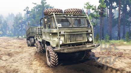 GAZ-66 [double cab] v2.0 for Spin Tires