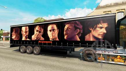 Rammstein skin for trailers for Euro Truck Simulator 2
