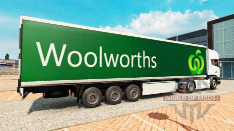 Woolworths skin for trailers for Euro Truck Simulator 2
