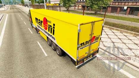 Maroni Transportes skin for trailers for Euro Truck Simulator 2