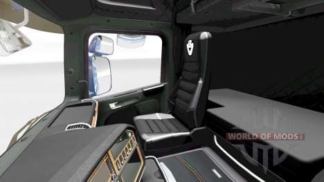 The Dark Line Exclusive interior v2.0 for Scania for Euro Truck Simulator 2