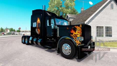 Ghost Rider skin for the truck Peterbilt 389 for American Truck Simulator