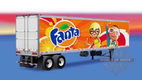 Fanta skin for semi-refrigerated for American Truck Simulator