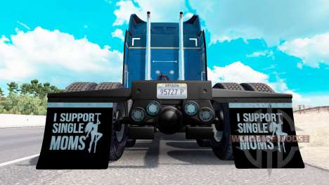 Mudguards I Support Single Moms v1.6 for American Truck Simulator