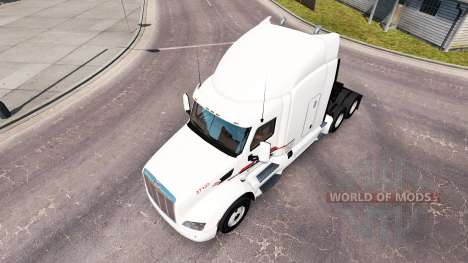 Skin P. A. M. on the tractor Peterbilt for American Truck Simulator