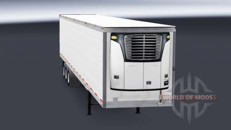 Three-axle reefer semi-trailer for American Truck Simulator