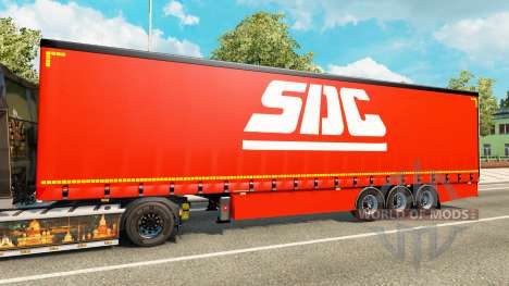 Curtain semi-trailer SDC v2.0 for Euro Truck Simulator 2