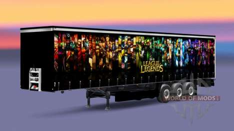 Skin League of Legends trailer for Euro Truck Simulator 2