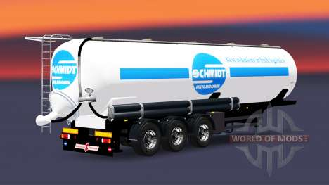 Tank semi-trailer Schmidt Heilbronn for Euro Truck Simulator 2