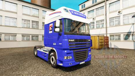 The P. Solleveld Transport skin for DAF truck for Euro Truck Simulator 2