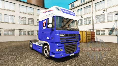 The P. Solleveld Transport skin for DAF truck for Euro Truck Simulator 2