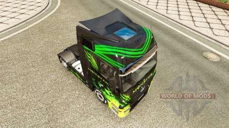 The skin Monster on truck Mercedes-Benz for Euro Truck Simulator 2