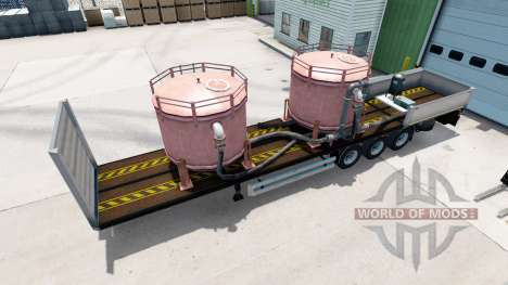 Flatbed semi-trailer Kogel with different loads. for American Truck Simulator