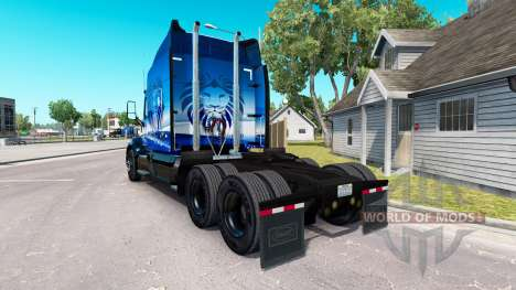 Skin Blue Lion Transport on tractor Peterbilt for American Truck Simulator