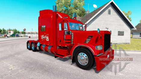Skin 29 Budweiser Peterbilt tractor 389 for American Truck Simulator