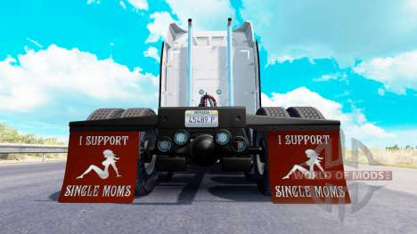 Mudguards I Support Single Moms v1.7 for American Truck Simulator