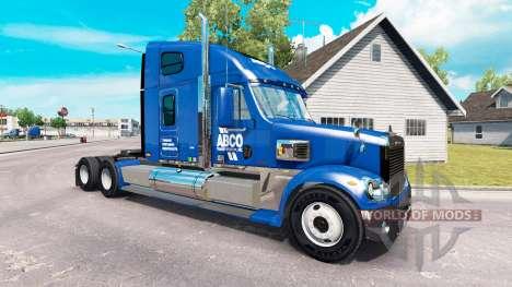 Skin for ABCO truck Freightliner Coronado for American Truck Simulator