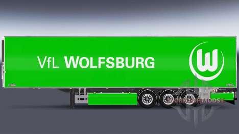 Semi-Trailer Chereau VfL Wolfsburg for Euro Truck Simulator 2