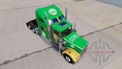 Boston Celtics skin for the Kenworth W900 tracto for American Truck Simulator