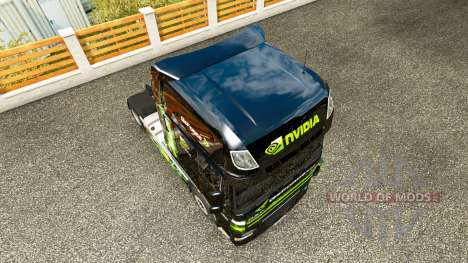 Skin Nvidia for tractor DAF XF 105.510 for Euro Truck Simulator 2