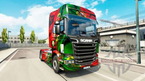 Скин Portugal Copa 2014 на Scania Streamline for Euro Truck Simulator 2
