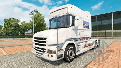 BARBERO skin for Scania T truck for Euro Truck Simulator 2