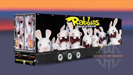 Semitrailer refrigerator Schmitz Rabbids for Euro Truck Simulator 2