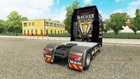 Skin 25 Jahre Wacken for the tractor MAN for Euro Truck Simulator 2