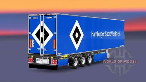 Semi-trailer Chereau Hamburger SV for Euro Truck Simulator 2