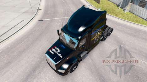 LCPD skin for the truck Peterbilt for American Truck Simulator