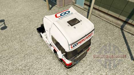 Coopercarga Logistica skin for Scania truck for Euro Truck Simulator 2