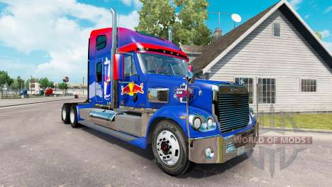 Red Bull skin for the Freightliner Coronado trac for American Truck Simulator