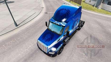 Skin Blue Lion Transport on tractor Peterbilt for American Truck Simulator